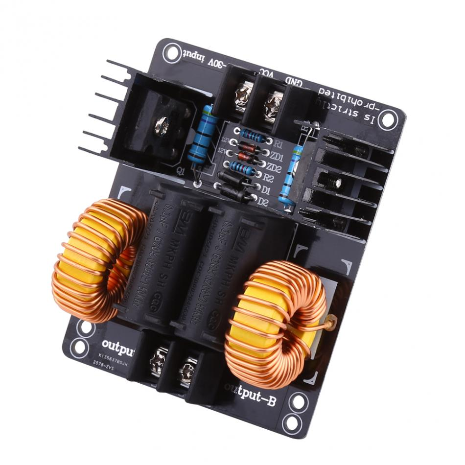 DC12-30V 20A 1000W ZVS Power Supply Driver Module Driver Board Induction Heating Module Heater dc12 36v 20a 1000w zvs induction heating module heater with cooling fan copper tube