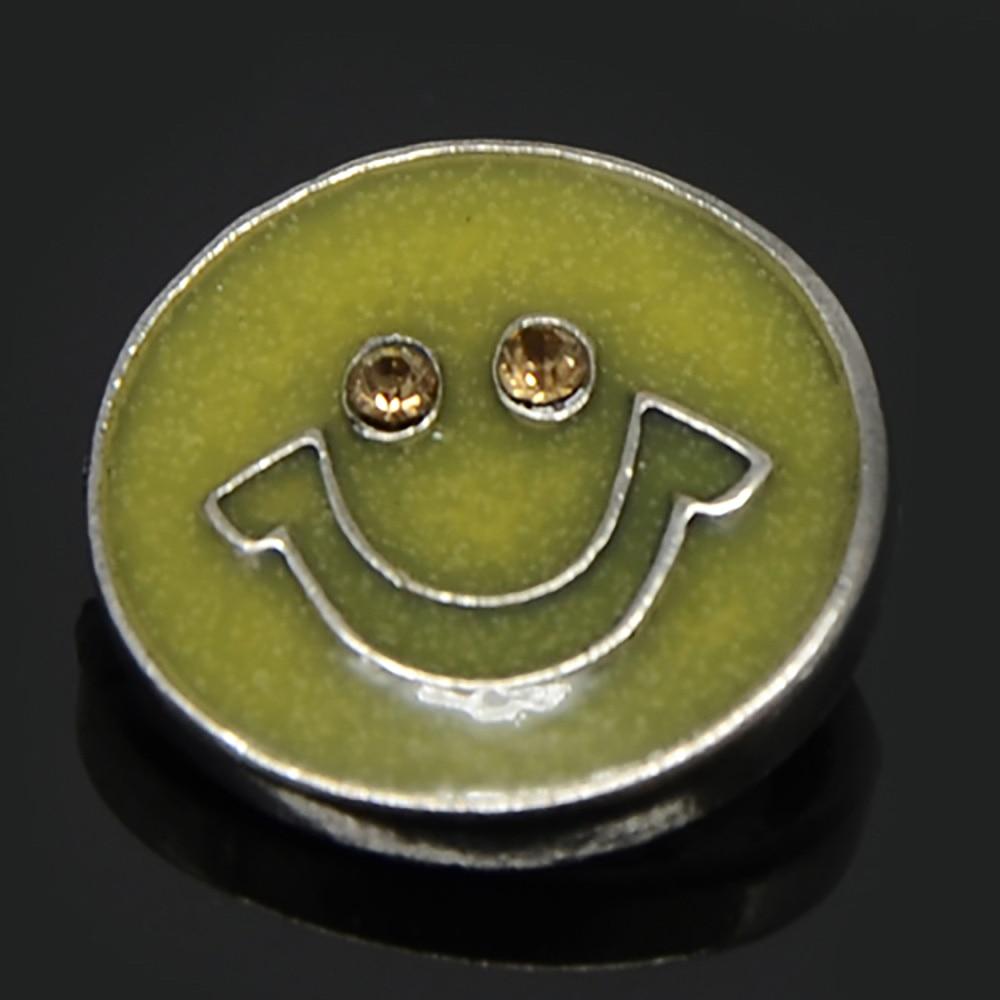 Pokemon sun en moon z ring armband met kristallen en figuur - Glimlach Patroon Legering Drukknoop Kralen Jewerly Voor 18mm Drukknoop Armband China Mainland