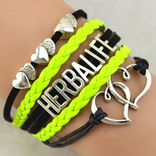 Silver Love Infinity HERBALIFE Jewelry Wholesale Woven Friendship Bracelets