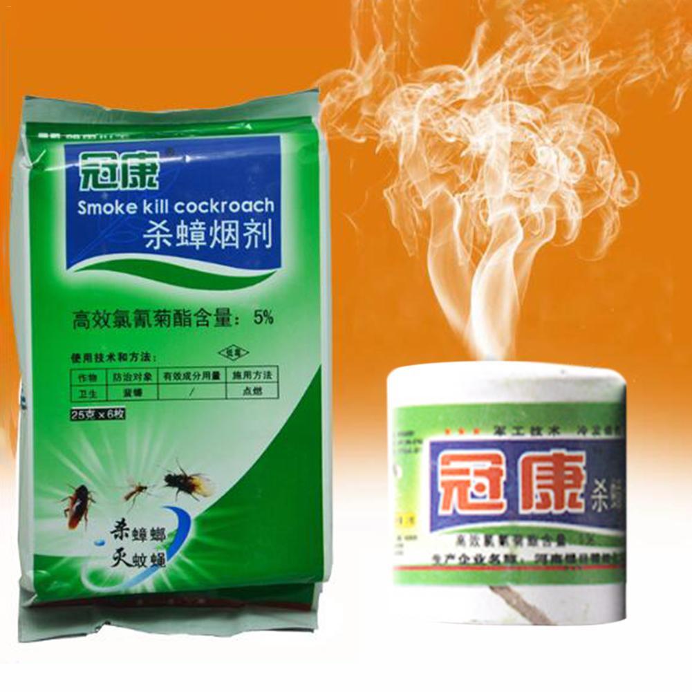 6 Pieces/bag 25g Smoke Bomb Anti-mosquito Fly Medicine Bed Bug Flea Medicine Pest Control