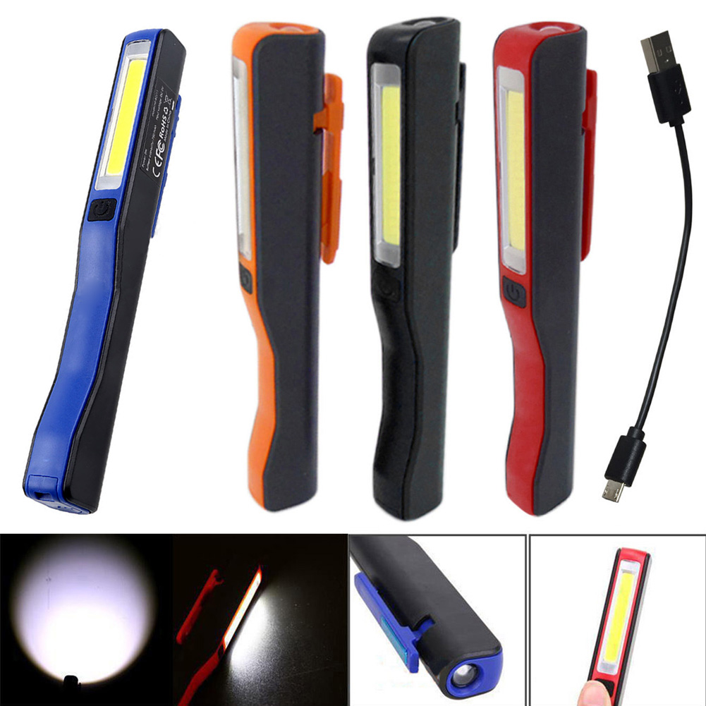 New Mini COB LED Pen Light Clip Magnet USB Rechargeable Work Torch Flashlight Lamp -- WWO66New Mini COB LED Pen Light Clip Magnet USB Rechargeable Work Torch Flashlight Lamp -- WWO66