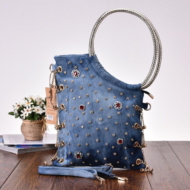 Rivet Vintage 3D Design Fashion Denim Jeans Shoulder Bags Girls Handbags  Crossbody Bag Women Messenger Bags bolsa femininaUSD 59.00 piece 66a1cba42838d