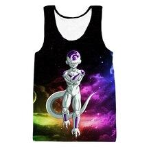Colorful Space Galaxy 3D t shirt Tees Tank Top Funny Dragon Ball Z Anime t shirts Vest Frieza Prints tshirts Tank Tops