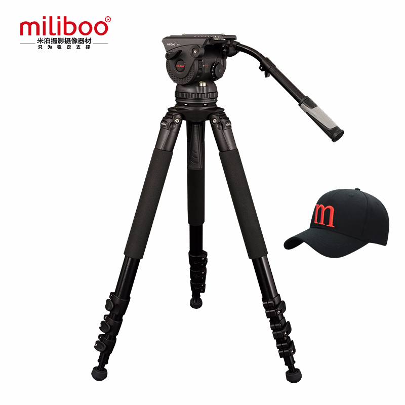 miliboo Professional Broadcast Movie 4 Section Tripod M15L with Hydraulic Fluid Head Load Bearing 18 kg