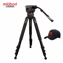 Miliboo профессиональная трансляция фильм 4-секционный штатив M15L с гидравлическим с панорамной головкой нагрузка 18кг максимальная высота 207 см