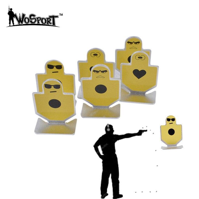 6Pcs Element Full Metal Warriors of Fortitude Pistol Shooting Small Target Set Outdoor Shooting Practice Durable Target Kit