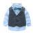 Cavalheiro crianças roupas camisa + colete + calça e gravata partido do bebê meninos roupas novas meninos roupas 3 pçs/set