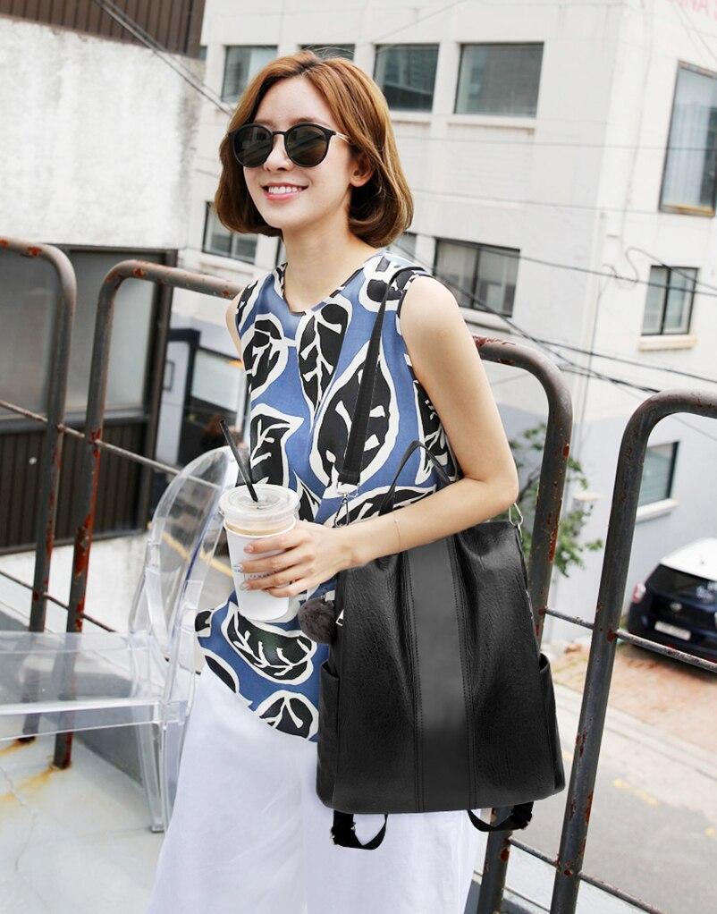 Nevenka 2018 Women Backpacks Fashion Leather Satchel Bags Sac Zipper Bags Casual Shoulder Bags Mochila03