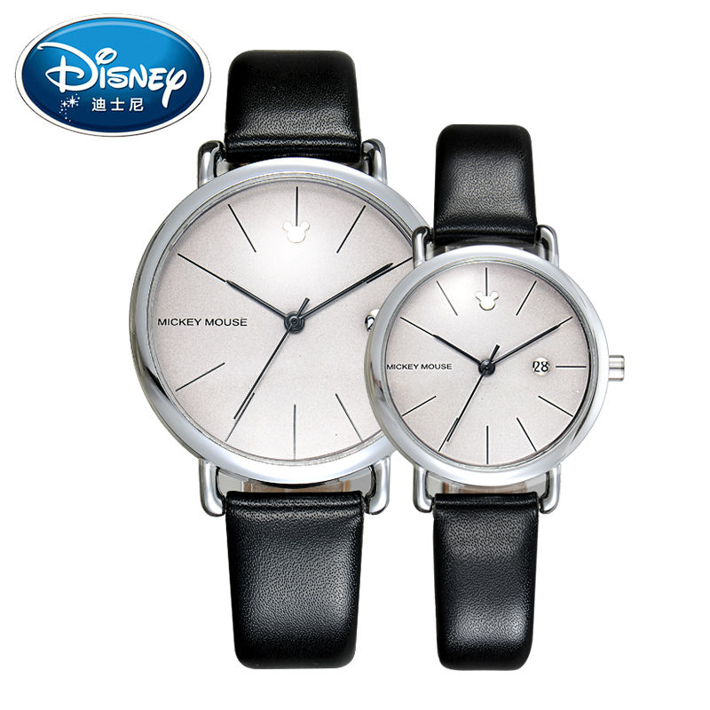 Disney Kids Watch Men Watch Fashion Cool Simple Wristwatches Boys Grils Lovers Mickey Mouse Gift Leather clock