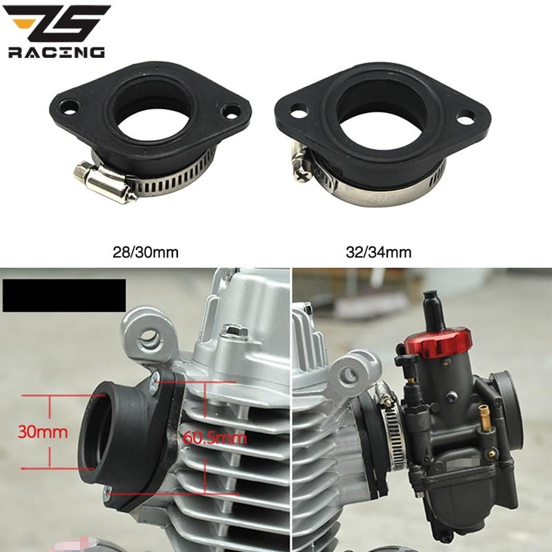 ZS Racing Motorcycle Carburetor Rubber Adapter Inlet Intake Pipe For MIKUNI VM24 OKO KOSO KEIHIN PE28 21/24/26/28/30/32/34mm-in Carburetor from Automobiles & Motorcycles