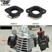 Zs corrida motocicleta carburador adaptador de borracha entrada tubo para mikuni vm24 oko koso keihin pe28 21/24/26/28/30/32/34mm