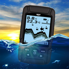 Free Shipping!Hot Sale Alarm 100M Portable Sonar LCD Fish Finders Fishing lure Echo Sounder 2 sensor Fishing Finder FF718Li