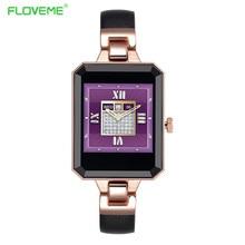 Floveme smart watch android ios frauen uhr armbanduhr herzfrequenz schrittzähler bluetooth smartwatch call tragbare geräte uhren