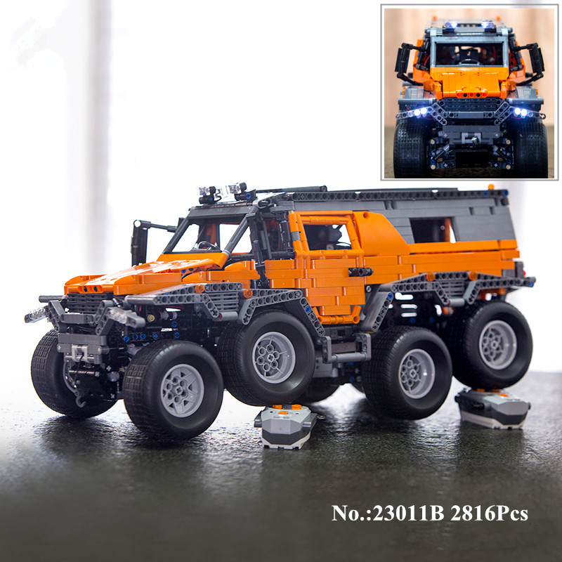 H&HXY In-Stock 23011B 2816Pcs New  Series Off-road vehicle Model 23011B Educational Building Kits Block Bricks Toys lepin Gifts new in stock ve j62 iy vi j62 iy