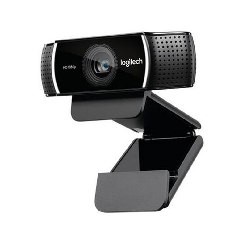 Logitech C922 webcam HD 1080P full 720P built-in microphone video call recording, background switch (including logitech c270 720p 3 mp widescreen hd webcam with video calling and recording