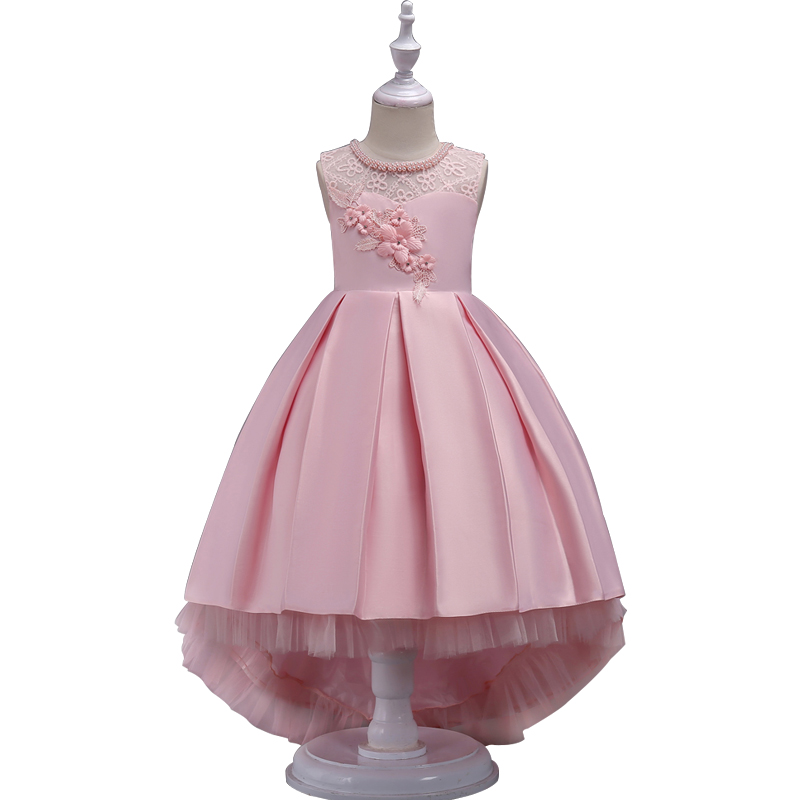 New summer Children Dresses For Girls princess Kids Formal Wear Princess Dress For Baby Girl 7 8 10 12 Year Birthday Party Dress summer 2017 new girl dress baby princess dresses flower girls dresses for party and wedding kids children clothing 4 6 8 10 year