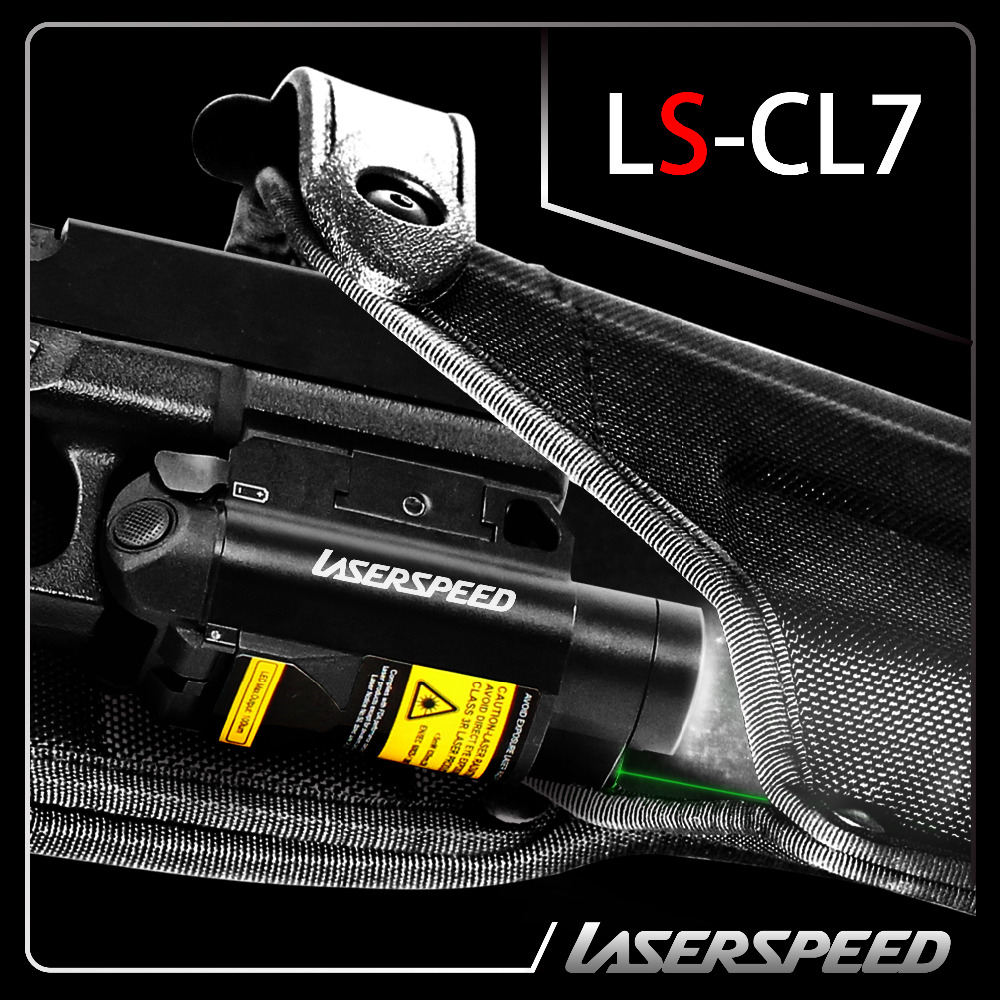 Drop shipping Pistol 5mw green laser sight with LED flashlight combo with pressure switch
