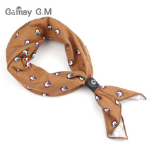 Floral Scarf Men Women Fashion Print Mens Scarves Autumn Winter Cotton Scarf Casual Pocket Square for Party Gifts Adult Wrap(China)