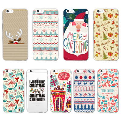 Merry Christmas Decorations Santa Claus Deer Bell Phone Cases Back