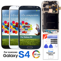 Original Super Amoled LCD For Samsung Galaxy S4 I9500 I9505 I9506 I337 LCD Display+Touch Screen with Frame Galaxy S4 Replacement