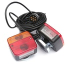 Trailer Rear Light Cable Kits- 2 Indicator Lamp Truck Tail Lights Assembly with Magnetic Holder