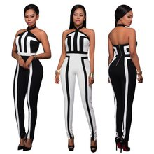 New style African Women clothing Dashiki fashion Print elastic cloth Hanging strip sleeveless jumpsuits dress(China)