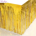 FENGRISE 1×2 Meters Gold Foil Fringe Tinsel Curtain Tassel Garlands Wedding Photography Backdrop Birthday Party Decoration