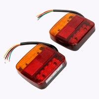 ITimo 1 Pair Auto Rear Lights Tailights Car Turn Signal Lights Brake Tail Lamps 12V Car