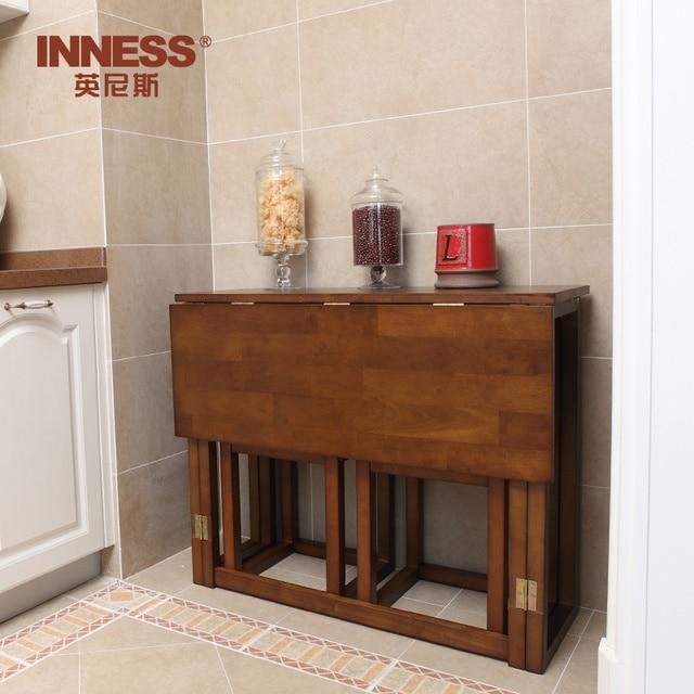 Innes mesa de comedor de madera rectangular mesas plegables para ...