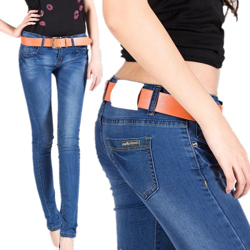 2017 New Women Jeans Fashion Jeans Women Pencil Pants Low Waist Four Seasons Sexy Slim Elastic Skinny Fit Lady Femme Plus Size rosicil new women jeans low waist stretch ankle length slim pencil pants fashion female jeans plus size jeans femme 2017 tsl049
