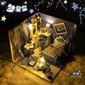 Бесплатная Доставка 3D Деревянные Головоломки DIY Модель Детские Игрушки Светодиодные Небо Стиль номер Головоломки, 3d головоломки строительные, деревянные головоломки