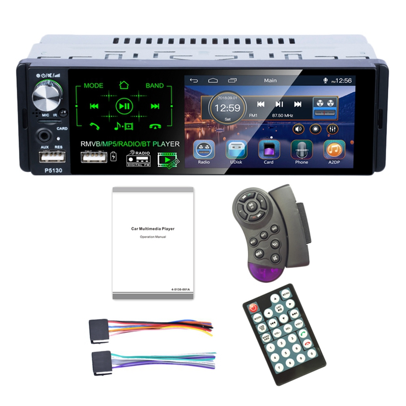 4.1 Inch Press Screen Car Mp5 Player Subwoofer Support Micophone And Camera Car Receiver Bluetooth Rmvb/<font><b>Radio</b></font>/Bt Player Am Fm image
