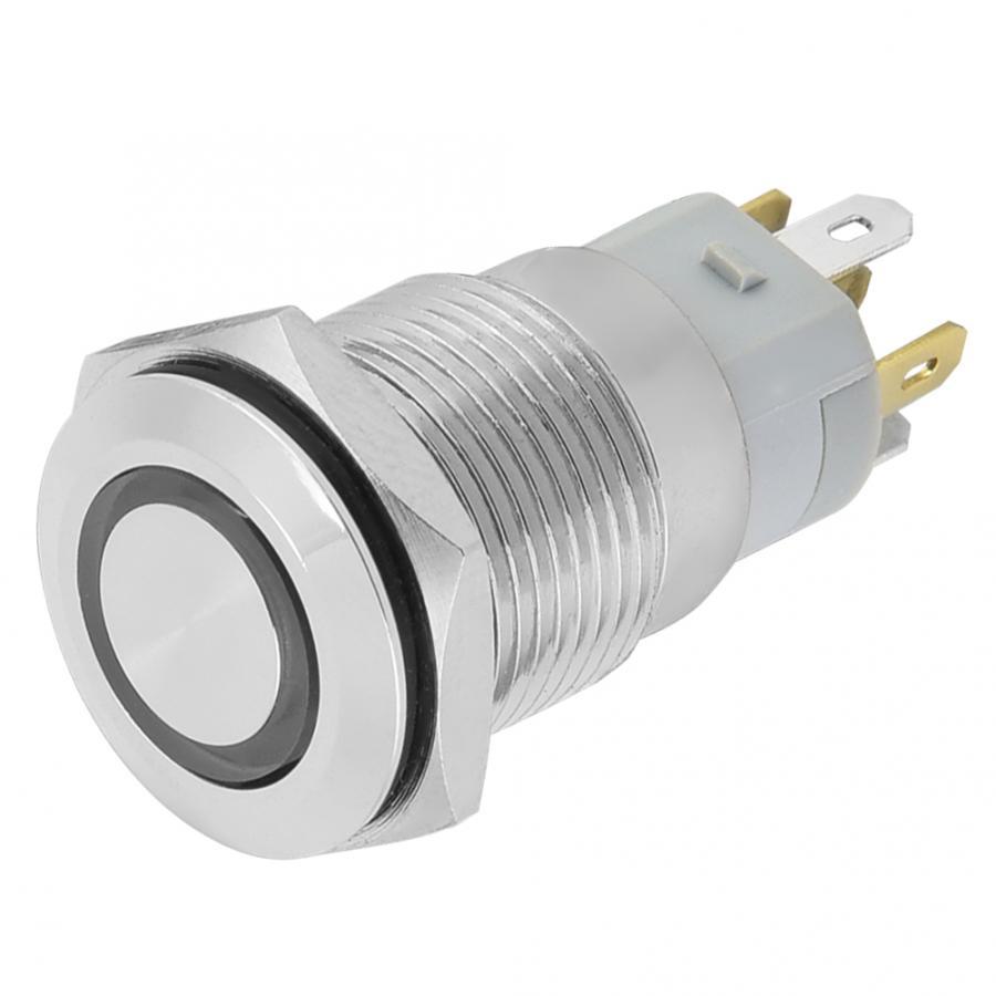 Беспроводной переключатель для выведения токсинов, 40 шт 16 мм, самофиксирующиеся металлическая кнопка переключатель 24 V светодиодный свет 5 контактный выключатели света прерыватель - 5