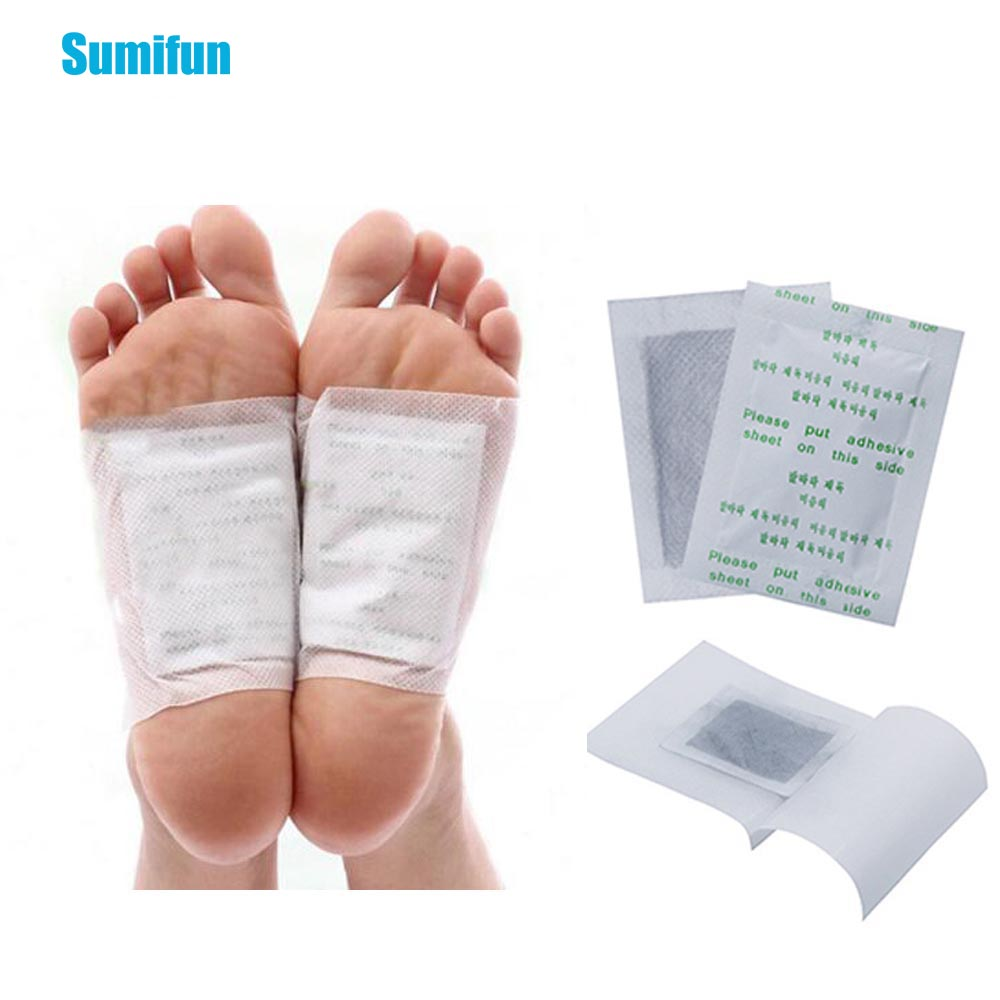 2pcs Detox Foot Pads Bamboo Vinegar Adhesive Patches Foot Care Natural Plant Body Toxins Herbal Medical Plaster B010