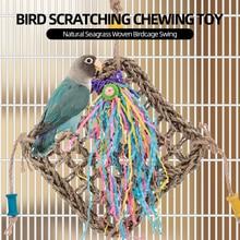 Птичья клетка качели природные водоросли Плетеный активности стены Птицы царапин жевательные Висячие Игрушки для попугая Cockatiels Conures Macaws