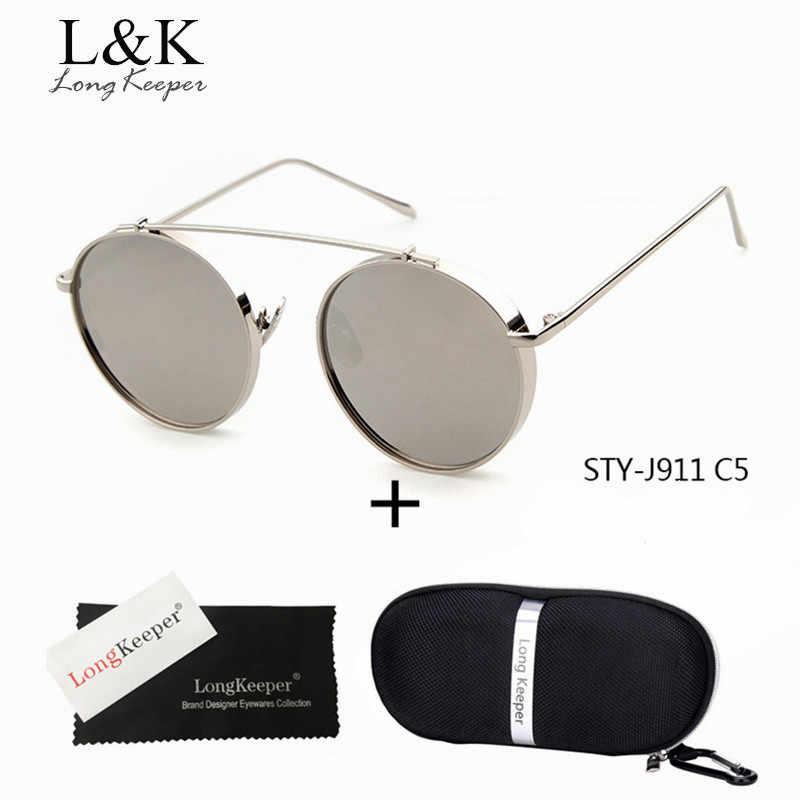 65b2cf81f5 Long keeper 2018 último hombre Eyewares ronda círculo gafas de sol Vintage  mujer Steampunk gafas de