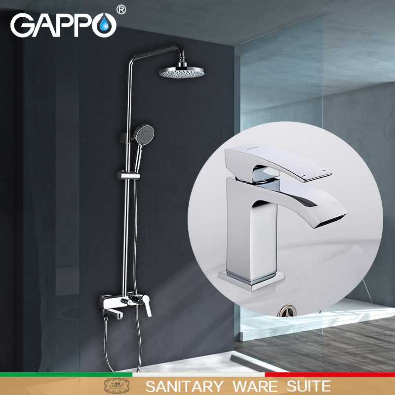 GAPPO Shower Faucets bath tub taps tub faucet waterfall basin faucets water tap mixer Sanitary Ware Suite