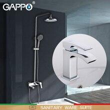 GAPPO baterie prysznicowe wanna krany kran wannowy wodospad baterie umywalkowe mieszacz do baterii sanitarne Suite