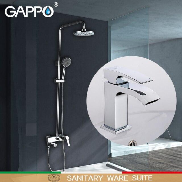 GAPPO シャワー蛇口浴槽タップ浴槽の蛇口の滝流域の蛇口水タップミキサー衛生陶器スイート