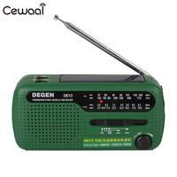 Emergency Portable Radio Hand Crank Dynamo Solar FM/MW/SW Radio Flashlight Phone Charger