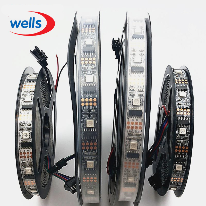 5M LED Digital Strip DC5V Input WS2801 IC 32pcs IC and 32pcs 5050 SMD RGB NP in LED Strips from Lights Lighting