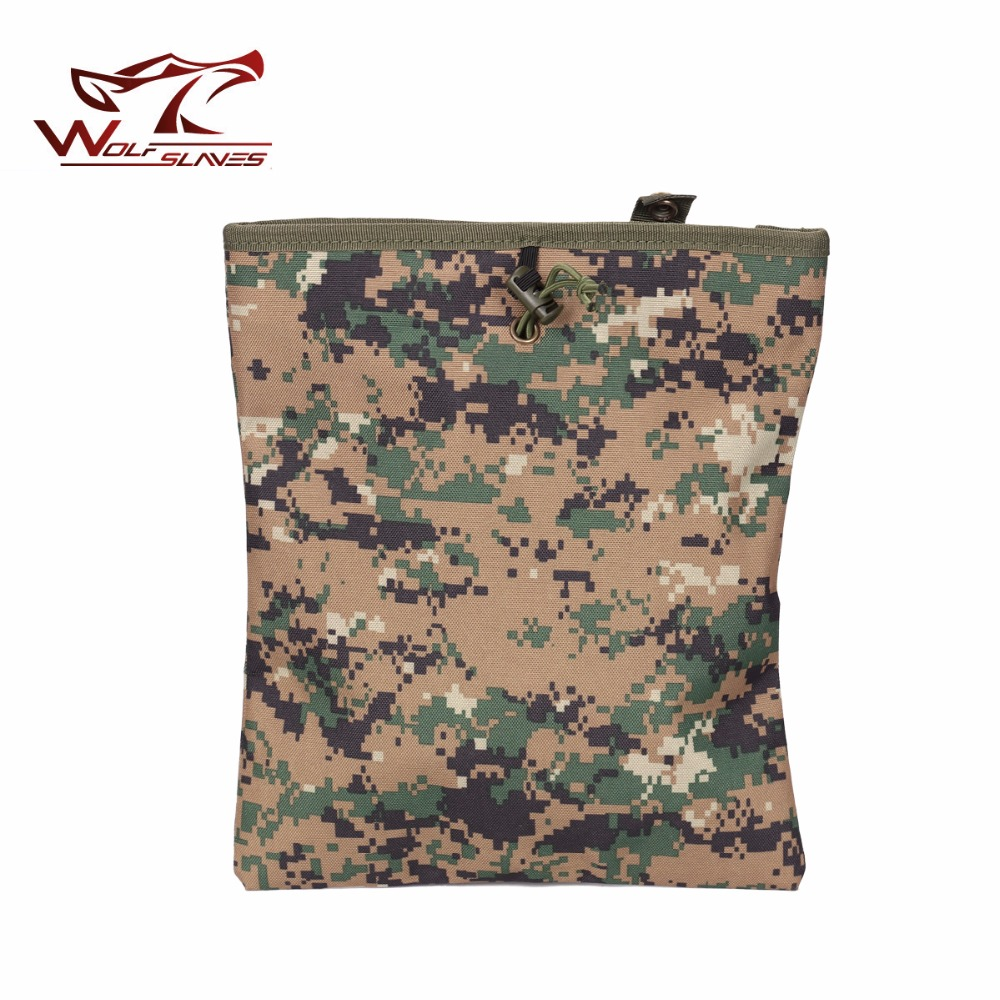 CS Military Tactical Gear Hunting Recovery Molle Dump Magazine Pouch Ammo Bags Airsoft Paintball Accessories Drop Pouch military tactical camouflage drop leg thigh magazine pouch 5 56mm and pistol magzine airsoftsports paintball hunting accessory