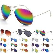 Горячие продажи Солнцезащитные Очки Отражающие Очки Цвет Металла Зеркало Кадр Очки