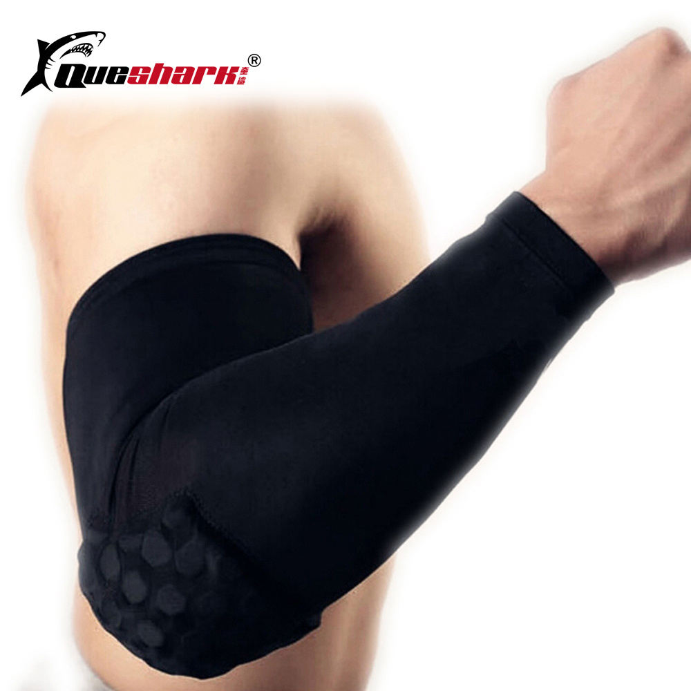 1PCS Elastic Sports Elbow Pads Basketball Arm Sleeve Crashproof Honeycomb Arm Warmers Elbow Support Guard Protector okulary wojskowe