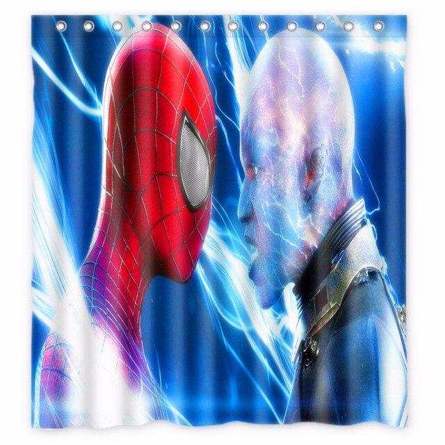 66 X72 Inch Spiderman Shower Curtain Waterproof Fabric