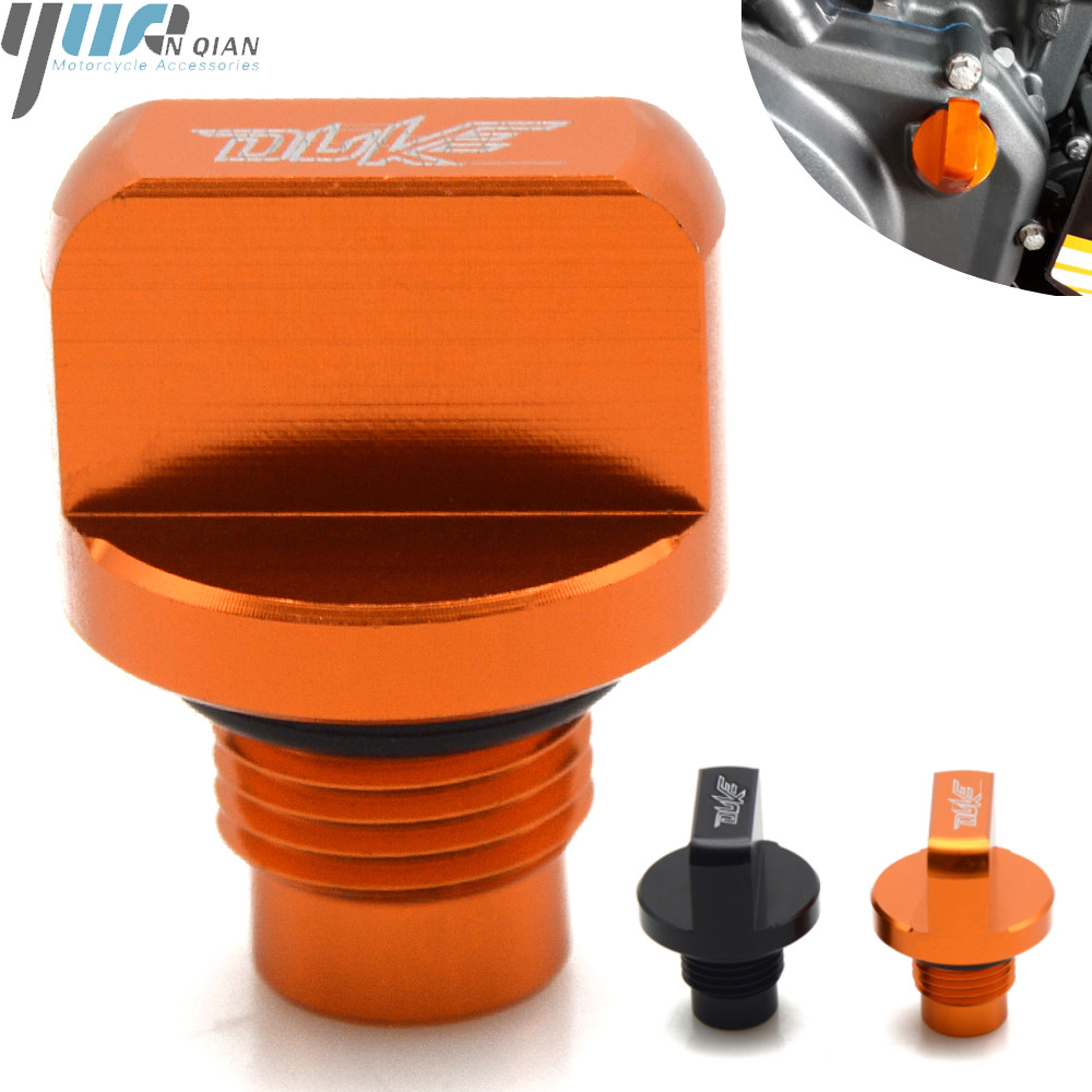 For KTM DUKE 125 200 390 2013 2014 2015 2016 Motorcycle MOTO Accessories Engine Oil Drain Plug ModiAccessory oil filler cap image