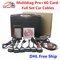2016 DHL Free Multidiag Pro Bluetooth TCS CDP Pro + 4GB TF Card + Full Set Car Cables 2014.R3/R2 Multi-diag Pro OBD2 Scanner