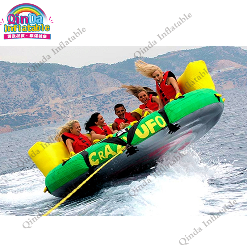Water sport Crazy UFO/Inflatable Carzy Sofa /fly fishing tude,Water air sofa UFO with cushion water sports game lake or ocean inflatable funny water sports game water trampoline with air pump and repair kit