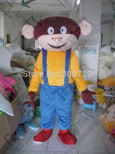 export high quality blue braces monkey mascot costumes animal mascot costume Bunny, fox and tiger(China)