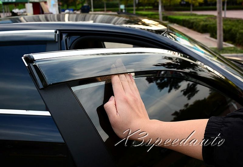 High Quality Abs Plastic 4pcs Side Window Deflector Sun